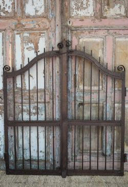 Decoratively forged antique iron gates, Gujarat <b>SOLD<b>